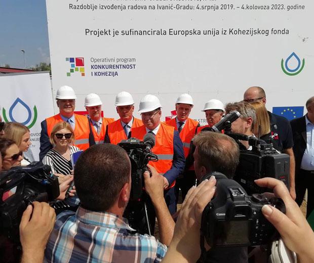 Press konferencija otvorenja radova vodoopskrbe u Ivanic Gradu
